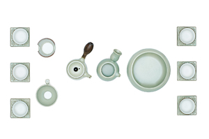 Gongfu Tea Ceremony Set With Сeladon Glaze