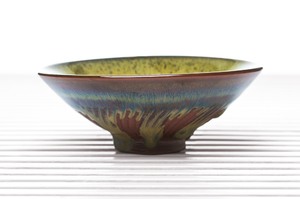 Olive Double Glazed Conical Tea Bowl